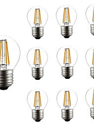 10pcs Dimmable G45 4W Led Filament Light E27 COB Retro Loft Style Fit For Chandelier Rope Lights Table Light AC220-240V