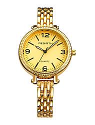 REBIRTH Mulheres Relógio de Moda Chinês Quartzo Lega Banda Prata Dourada
