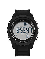Men's Women's Sport Watch Digital Watch Japanese Quartz LED Plastic Band Casual Black