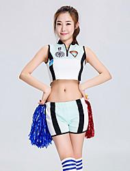 Devrions-nous des tenues de cheerleader des tenues de performance féminine, un bloc de couleurs en épissure en polyester