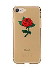 Назначение iPhone X iPhone 8 Чехлы панели Прозрачный С узором Задняя крышка Кейс для Цветы Мягкий Термопластик для Apple iPhone X iPhone