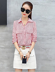 Women's Summer Shirt Skirt Suits Shirt Collar Long Sleeve