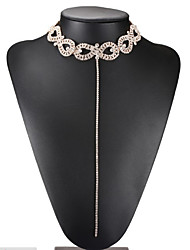 Women's Choker Necklaces Infinity Rhinestone Alloy Euramerican Fashion Luxury Jewelry For Wedding Party 1pc