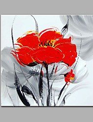 Hand-Painted Flowers Abstract Contemporary One Panels Oil Painting For Home Decoration