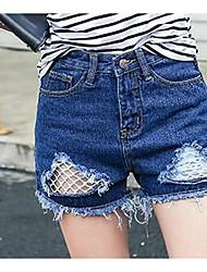 Femme Street Chic Taille Haute strenchy Jeans Short Pantalon,Mince