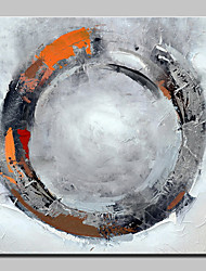 Peinture à l'huile abstrait en cercle peint à la main sur toile photo murale pour la décoration de la maison avec un cadre étiré prêt à accrocher
