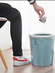 Plastic Staircase Bathroom Living Room Kitchen Large Paper Basket Trash Cans