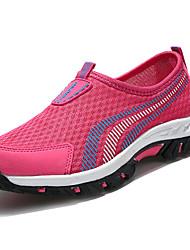 Для женщин Спортивная обувь Удобная обувь Полиуретан Весна Осень Повседневный На плоской подошве Лиловый Красный Синий На плоской подошве