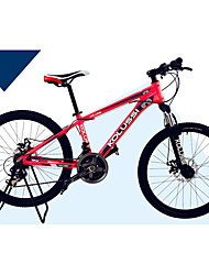 Mountain Bike Cycling 24 Speed 24 Inch Double Disc Brake Suspension Fork Aluminium Alloy Frame Hard-tail Frame Anti-slip Aluminium Alloy