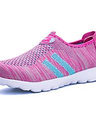 Feminino Mocassins e Slip-Ons Casual Fashion par sapatos Tule Couro Ecológico Todas as Estações Diário Para Noite CasualCasual Fashion
