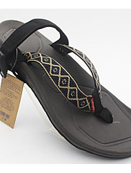 Men's Slippers & Flip-Flops Comfort Denim Spring Casual Black Flat