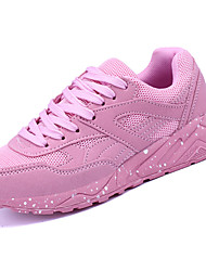 Women's Athletic Shoes PU Spring Summer Low Heel Black Gray Blushing Pink Under 1in