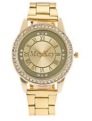 Mulheres Homens Relógio Elegante Relógio de Moda Chinês Quartzo Lega Banda Casual Luxuoso Elegantes Prata Dourada Ouro Rose