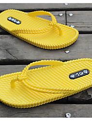 Men's Slippers & Flip-Flops Rubber Spring White Gray Yellow Flat