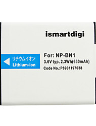Ismartdigi BN1 3.6V 630mAh Camera Battery for Sony TX9 WX100 TX5 WX5C W620 W630 W670 TX100