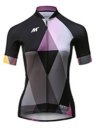 Mysenlan Cycling Jersey Women's Short Sleeve Bike Jersey Quick Dry Breathable Polyester Fashion Summer