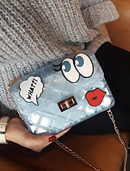 Girl cute transparent square shaped chain bag big eyes jelly female bag