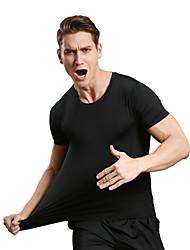 Homens Camiseta de Corrida Secagem Rápida Respirável Macio Compressão Confortável Camiseta Blusas paraAcampar e Caminhar Exercício e
