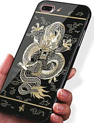 Pour Apple iphone 7 plus 7 housse de protection antichoc plaqué motif carrure étui animal dur acrylique