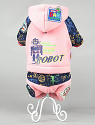 Dog Clothes/Jumpsuit Dog Clothes Casual/Daily Keep Warm Cartoon