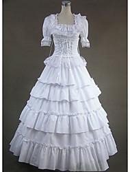 One-Piece/Dress Gothic Lolita Cosplay Lolita Dress Vintage Cap Short Sleeve Floor-length Dress For Other