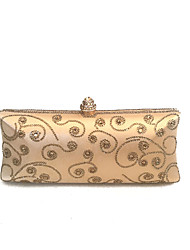 Ladies Vintage Gold Evening Clutch Decorated with Crystals