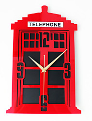 Retro Architecture Wall Clock,Novelty Rectangle Indoor Clock