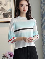 Damen Einfarbig Retro Geburtstag T-shirt,Rundhalsausschnitt 3/4 Ärmel Andere