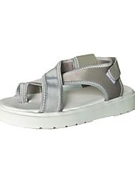 Women's Sandals Comfort Light Soles PU Summer Casual Gray Black 1in-1 3/4in