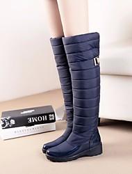 Damen Stiefel Komfort Wildleder Winter Normal Komfort Schwarz Blau Flach