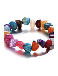 New Bohemia Multicolor Irregular Shape Natural Stone Bracelet Boho Love Rainbow Chip Gem Stone Bracelets For Women Pulseira Mujer Accessorie