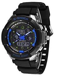 Мужской Модные часы Цифровой силиконовый Группа Черный