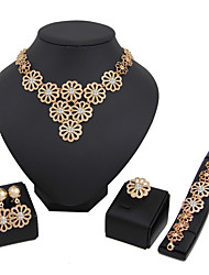 Women's Jewelry Set Necklace/Bracelet Bridal Jewelry Sets Rhinestone Euramerican Fashion Classic Gold Rhinestones Alloy Circle 147Wedding