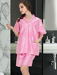 Bath RobeFloral High Quality Blend Towel 65% Cotton 35% Ice Silk
