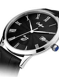 Men's Fashion Watch Japanese Quartz Calendar Water Resistant / Water Proof Leather Band Casual Black Silver Brown
