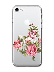 Pour iPhone X iPhone 8 Etuis coque Motif Coque Arrière Coque Bande dessinée Fleur Flexible PUT pour Apple iPhone X iPhone 8 Plus iPhone 8