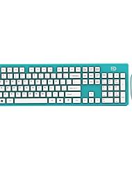 Fd ultra léger économiseur d'énergie 2.4ghz clavier sans fil et souris combo pour pc et mac