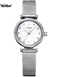 SINOBI Mujer Reloj de Vestir Reloj de Moda Reloj Pulsera Reloj creativo único Simulado Diamante Reloj Chino CuarzoResistente al Agua
