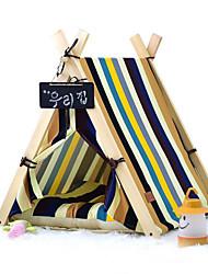 Hund Betten Haustiere Matten & Polster Streifen Tragbar Zelt Streifen