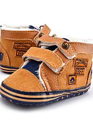 Niños Bebé Zapatillas de deporte Primeros Pasos Sarga Otoño Invierno Casual Vestido Fiesta y Noche Primeros PasosCuentas Botón Cierre