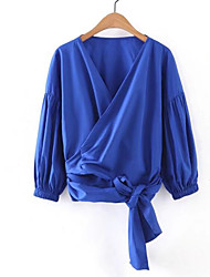 Women's Casual Sexy Blouse,Floral V Neck Long Sleeve Others