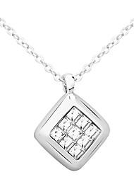 Women's Pendant Necklaces Jewelry Square Jewelry Rhinestone Alloy Unique Design Euramerican Fashion Jewelry 147Party Other Ceremony