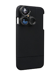 4 in 1 iPhone 7 Lens Case Camera Lens Kit Fish Eye Lens / Macro Lens / Wide Angle Lens / Telephoto Lens Black(Fits iphone 7-4.7 inch only)