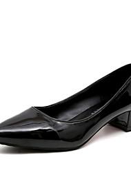 Femme Chaussures à Talons Polyuréthane Printemps Eté Décontracté Noeud Talon Aiguille Blanc Noir Beige Rouge Rose 10 à 12 cm