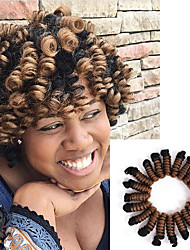 Bouncy Curl crochet braids 20inch kenzie curl kanekalon braiding hair Synthetic braids crochet Hair extensions 20roots/pack 5packs make one head