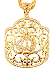 Feminino Pingentes Zircônia cúbica Formato de Flor Forma Geométrica Ouro Cobre Pingente Geométrico Jóias ParaFesta Halloween Diário