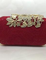 Вечерняя сумочка Полиуретан Замок с защелкой Золотой Белый Черный Красный