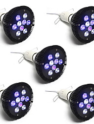 27W E26/E27 Luci LED per la coltivazione PAR38 9 LED ad alta intesità 1450 lm Bianco Blu V 5 pezzi