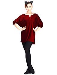 Danse latine Robes Femme Spectacle Modal 1 Pièce Manchon de longueur de 3/4.
