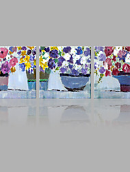Abstract Oil Painting Colorful Flowers in The Vases Framed Handmade Oil Painting For Home Decoration
